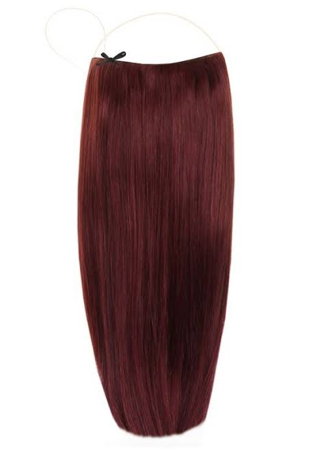 Berry red Halo Hair