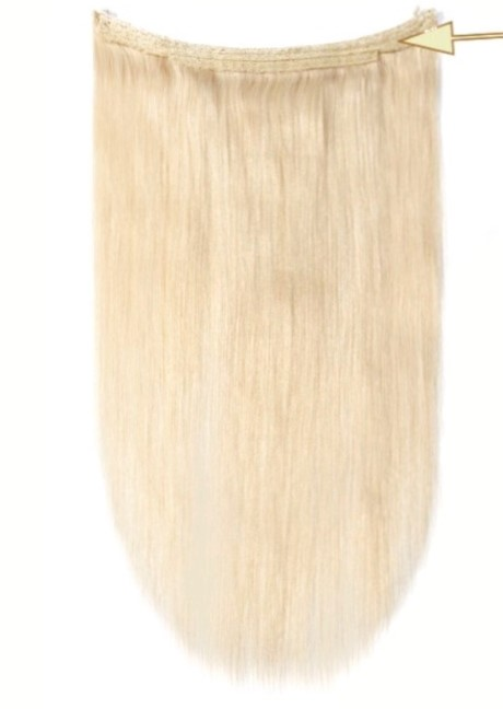 Vanilla blonde Halo Hair