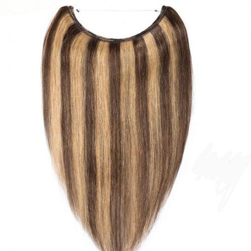 Choc Honey Foiled Halo Hair