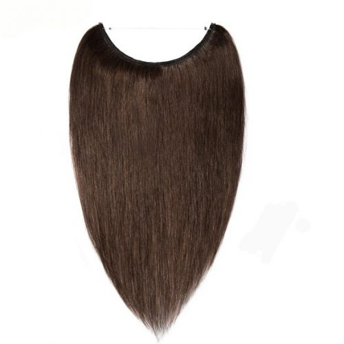 medium brown mocha halo hair extensions