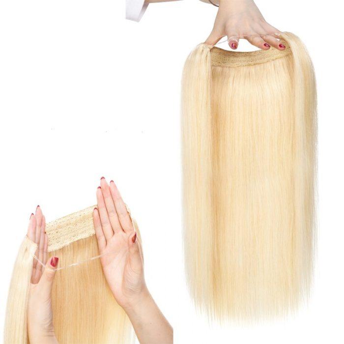 Blonde Halo Hair